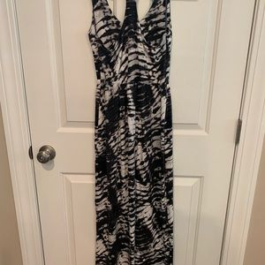 Long maxi tie dyed dress